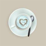 Vektorkopp av espressokaffe stock illustrationer