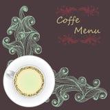 Vektorkopp kaffe på abstrakt våg Royaltyfri Bild