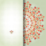 Vektorkort med den runda blom- modellen Arkivfoton