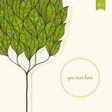 Vektorkort med det abstrakta trädet royaltyfri illustrationer