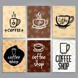 Vektorkort med kaffetemadesign Royaltyfri Foto
