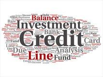 Vektorkreditkortlinje investeringjämviktsabstrakt begrepp royaltyfri illustrationer