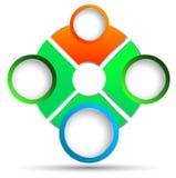 Vektorkreis für Geschäftskonzepte Vektor Abbildung