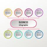 Vektorkreis infographic Geschäftsdiagramme, -darstellungen und -diagramme Hintergrund Lizenzfreie Stockbilder