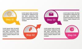 Vektorkreis infographic Geschäftsdiagramme, -darstellungen und -diagramme Hintergrund lizenzfreies stockbild