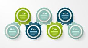 Vektorkreis infographic Schablone für Diagramm, Diagramm Lizenzfreies Stockbild