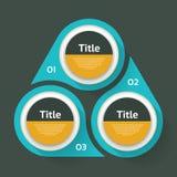 Vektorkreis infographic Schablone für Diagramm, Diagramm Lizenzfreie Stockfotos