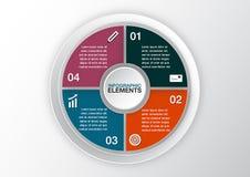 Vektorkreis infographic Schablone für Diagramm, Diagramm, presenta Stockfotografie