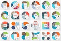 Vektorkreis infographics Schablone für Zyklus Lizenzfreie Stockbilder