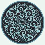 Vektorkreis mit Seeelementen Lizenzfreie Stockfotografie