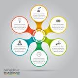 Vektorkreiselement für infographic stock abbildung