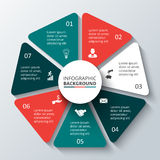 Vektorkreiselement für infographic Lizenzfreies Stockbild