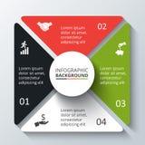 Vektorkreiselement für infographic Stockfotos