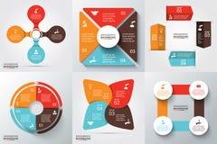 Vektorkreiselemente für infographic Stockbild