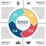 Vektorkreispfeile für das Geschäft infographic Lizenzfreies Stockfoto
