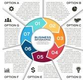 Vektorkreispfeile für das Geschäft infographic Stockbilder