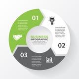 Vektorkreispfeile für infographic, Diagramm Stockfotografie