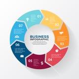 Vektorkreispfeile für infographic, Diagramm Lizenzfreies Stockbild