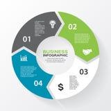 Vektorkreispfeile für infographic, Diagramm Lizenzfreie Stockfotografie