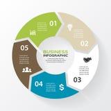 Vektorkreispfeile für infographic, Diagramm Lizenzfreie Stockfotos