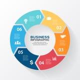 Vektorkreispfeile für infographic, Diagramm Stockfotos