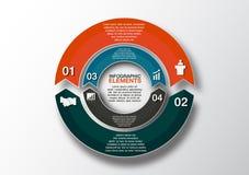 Vektorkreispfeile für infographic Schablone für Radfahrendiagr Stockbild