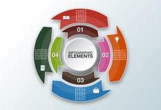 Vektorkreispfeile für infographic Schablone für Radfahrendiagr Lizenzfreie Stockfotografie