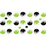 Vektorkreispunkte gemalt mit einer Bürste Stockfoto