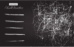 Vektorkritaborstar och svart tavlatextur för grunge Royaltyfri Foto