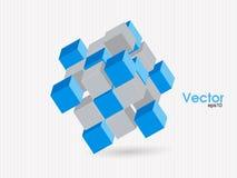 Vektorkuben för infographic design, kan du ändra färger för bakgrunden Arkivbilder