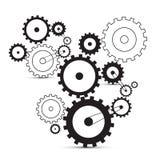 Vektorkuggar - kugghjul Arkivfoto