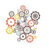 Vektorkuggar - kugghjulillustration Royaltyfria Bilder