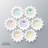 Vektorkugghjul för infographic Arkivfoto