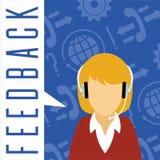 Vektorkundenservicekonzept feedback Lizenzfreie Stockbilder