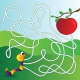 Vektorlabyrint, labyrintutbildningslek för barn Royaltyfri Bild