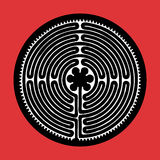 Vektorlabyrinth stock abbildung