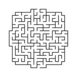 Vektorlabyrinth 111 stockbild