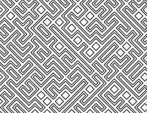 Vektorlabyrinth-Muster-Hintergrund Stockfoto