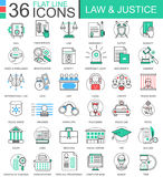 Vektorlag och linjen för rättvisafärglägenhet skisserar symboler för apps och rengöringsdukdesign Rättvisabeståndsdelar vektor illustrationer