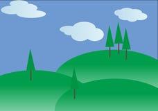 Vektorlandskap royaltyfri illustrationer
