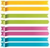 Vektorlange Farbbänder Lizenzfreie Stockbilder