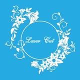 Vektorlaser-snitt blom- prydnad Royaltyfri Fotografi