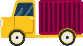 Vektorlastbil på en vit bakgrund stock illustrationer