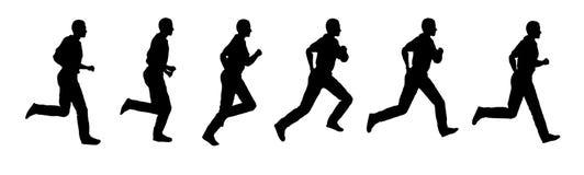 Vektorlaufender Mann Stockfoto