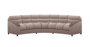 Vektorledernes Sofa. Lizenzfreie Stockfotos