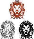 Vektorlejon royaltyfri illustrationer