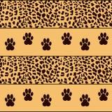Leopardbakgrund med traces Royaltyfri Illustrationer