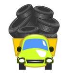 Vektorlieferwagen lizenzfreie abbildung