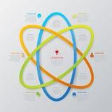 Vektorlinje bakgrund för mall för områdesteknologi infographic vektor illustrationer