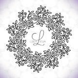 Vektorlinje ramdesignbeståndsdelar för logoer, prydnad och garnering royaltyfri illustrationer
